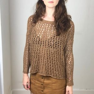 Brown  Cotton Knit American Eagle Sweater NWT